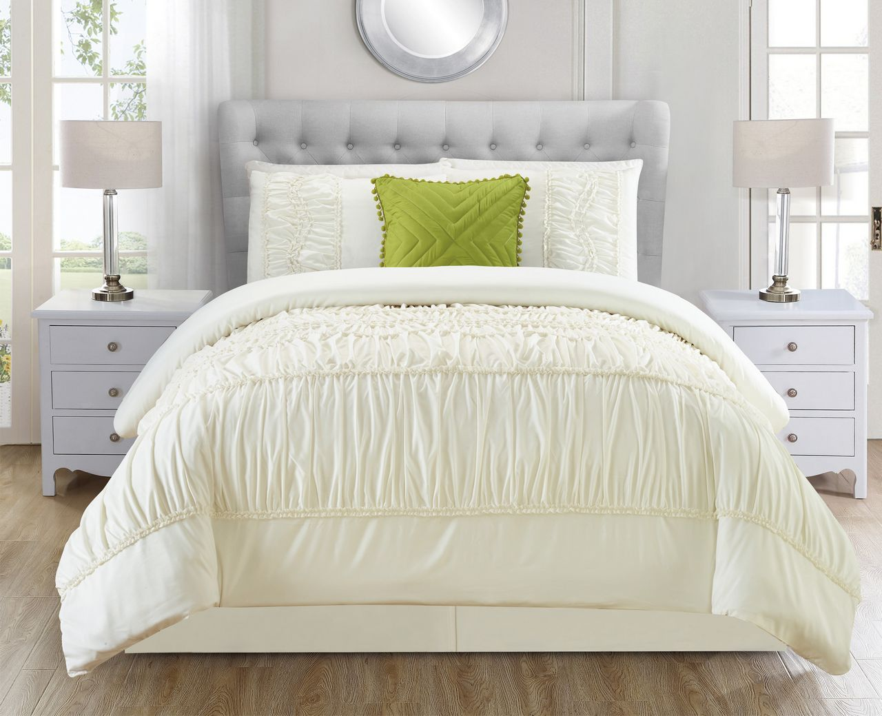 comforter ivory piece queen set jervis