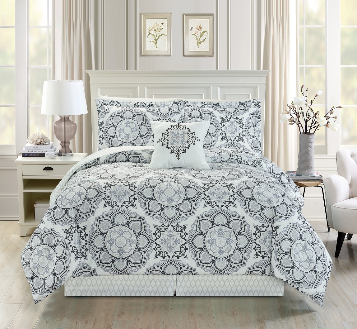 sets piece set miami white and gray room comforter ideas pin