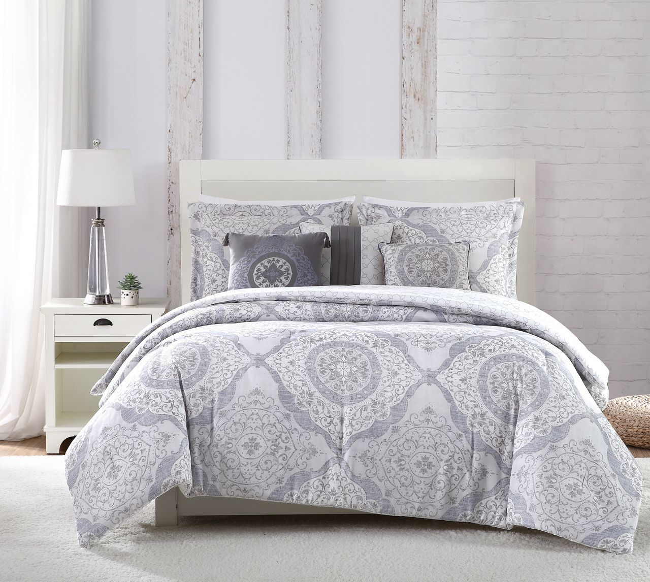 comforter queen set blue culpeper piece light