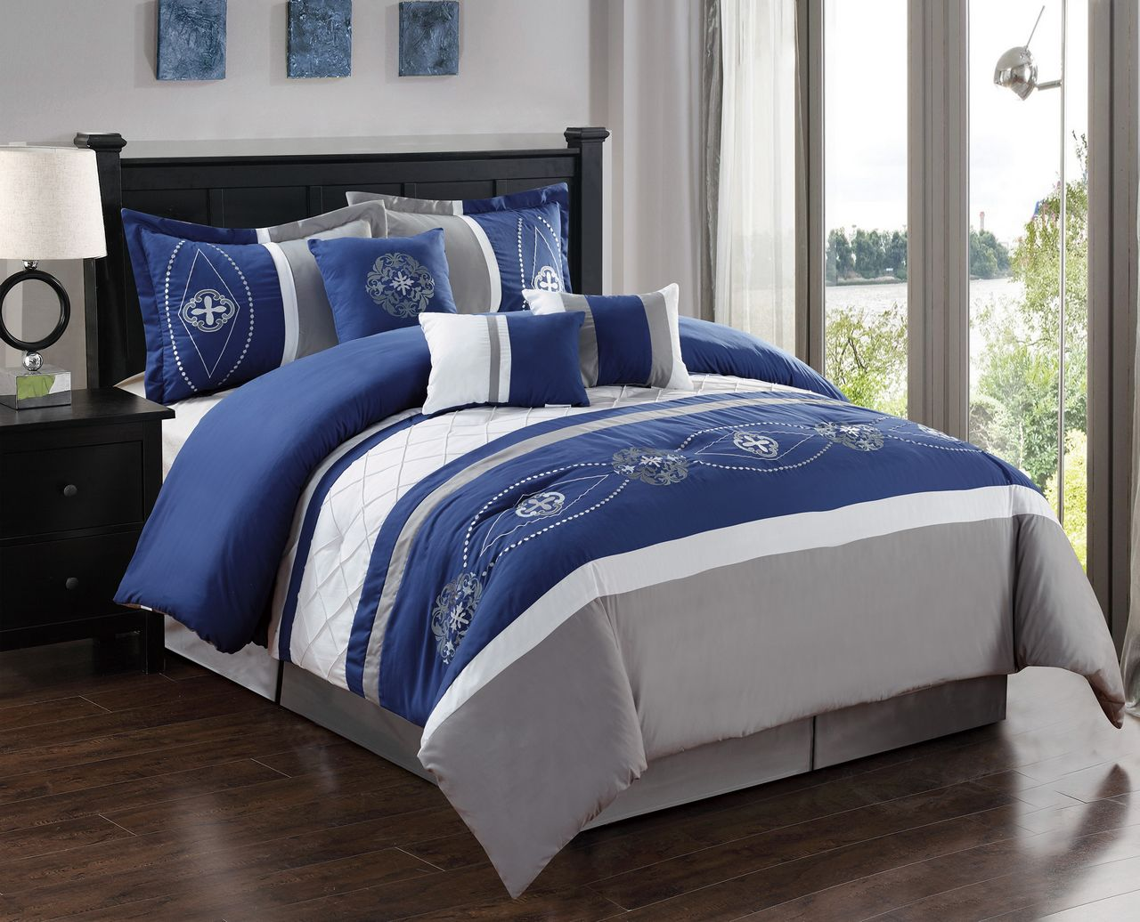 bed beyond buy bath king white comforter in sets set from pintuck