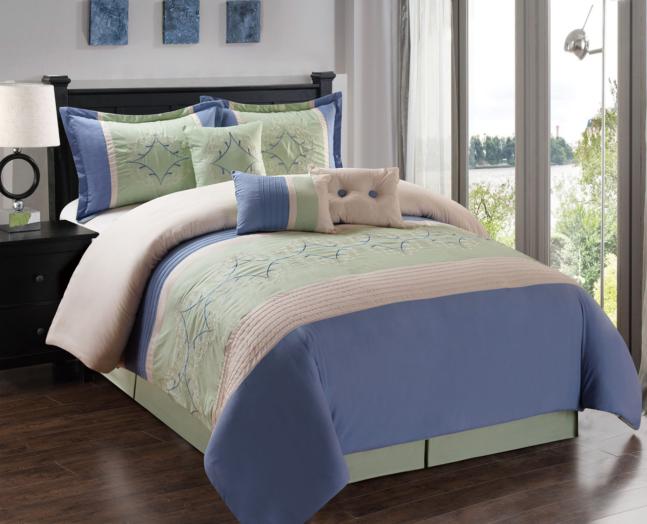 candice matching comforter curtains set sage piece available