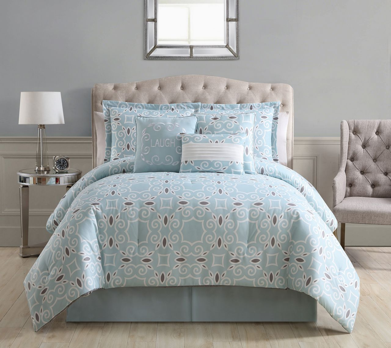 set comforter zamella peace sets queen white