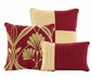 7-Piece Perris Burgundy/Gold Comforter Set