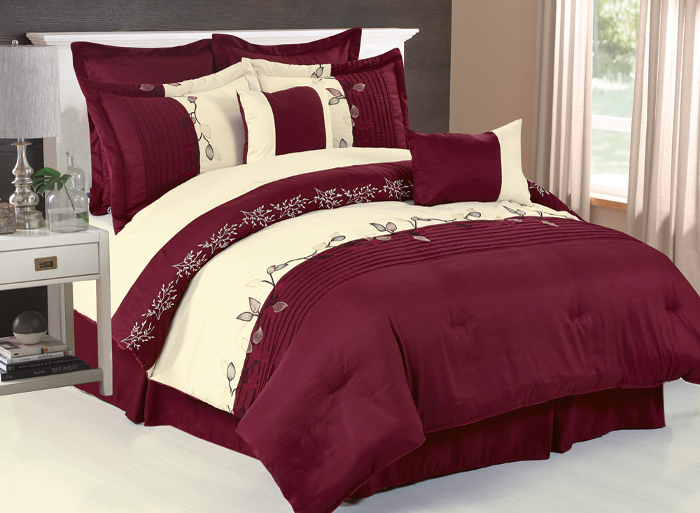Burgundy Bedspreads Queen Pictures To Pin On Pinterest