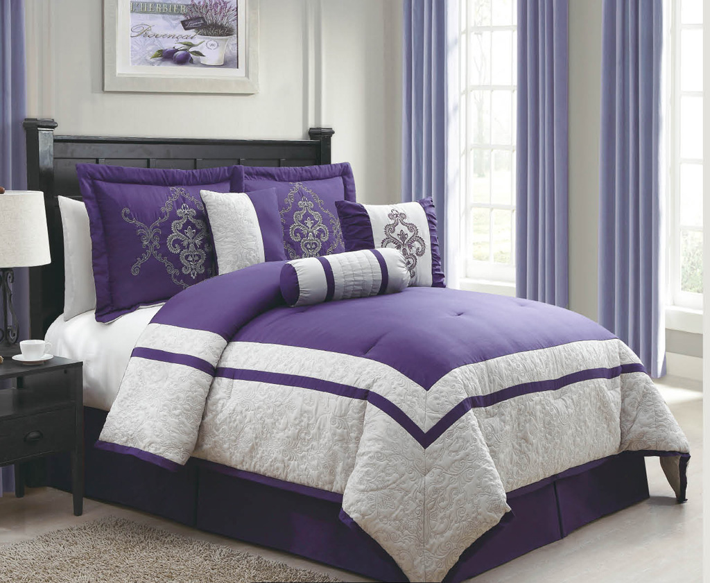 Purple and Grey Bedding Sets - Bing images