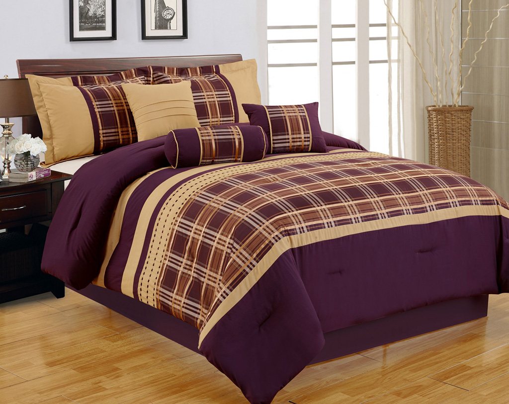 purple and gold comforter sets home design and interior decorating ideas. Black Bedroom Furniture Sets. Home Design Ideas