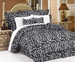 7 Piece Queen Zebra Animal Kingdom Bedding Comforter Set