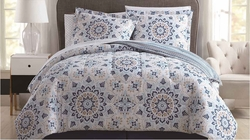 8 Piece Adington Teal/Taupe Reversible Comforter Set
