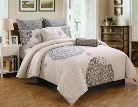 8 Piece Antheia Cotton Comforter Set