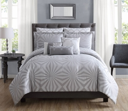 8 Piece Melana Gray Comforter Set