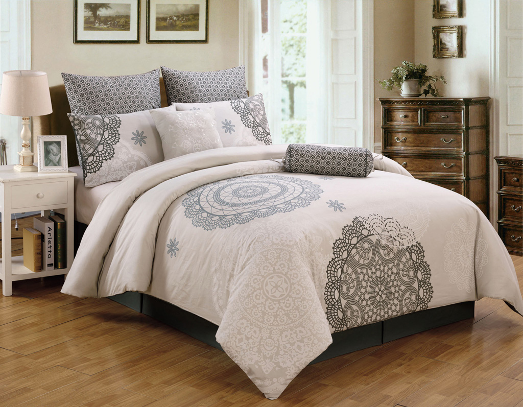 piece antheia cotton comforter set -  piece queen antheia cotton comforter set