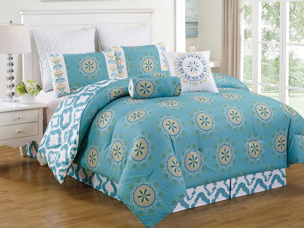 8 piece arocena teal comforter set Teal bedding sets