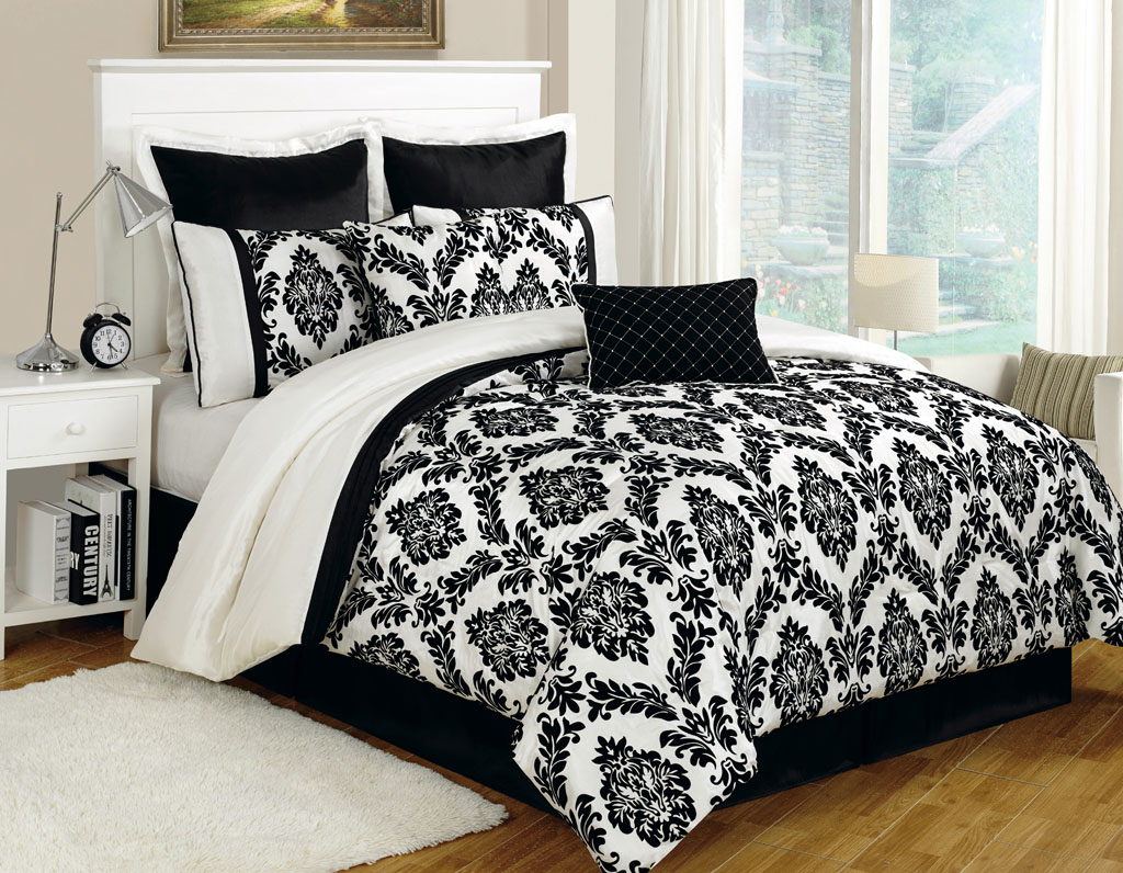 Black And Yellow Comforter Queen: Floral And White Comforter