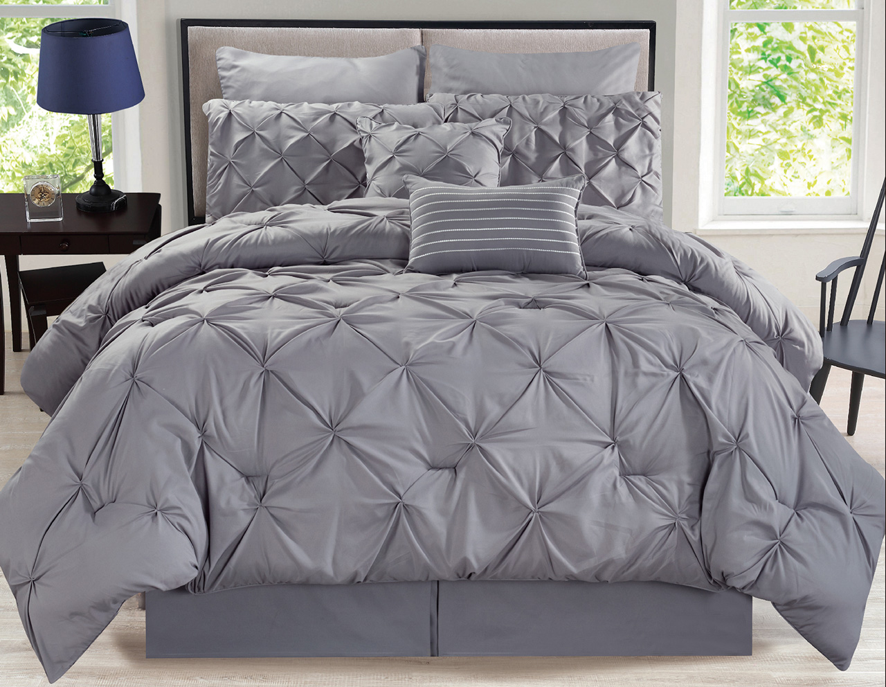 striped well black sham queen dot patterned with king also white set as gray bed frame for cushion sets grey dark on sleep cream comforter astonishing full comfortable bedroom and