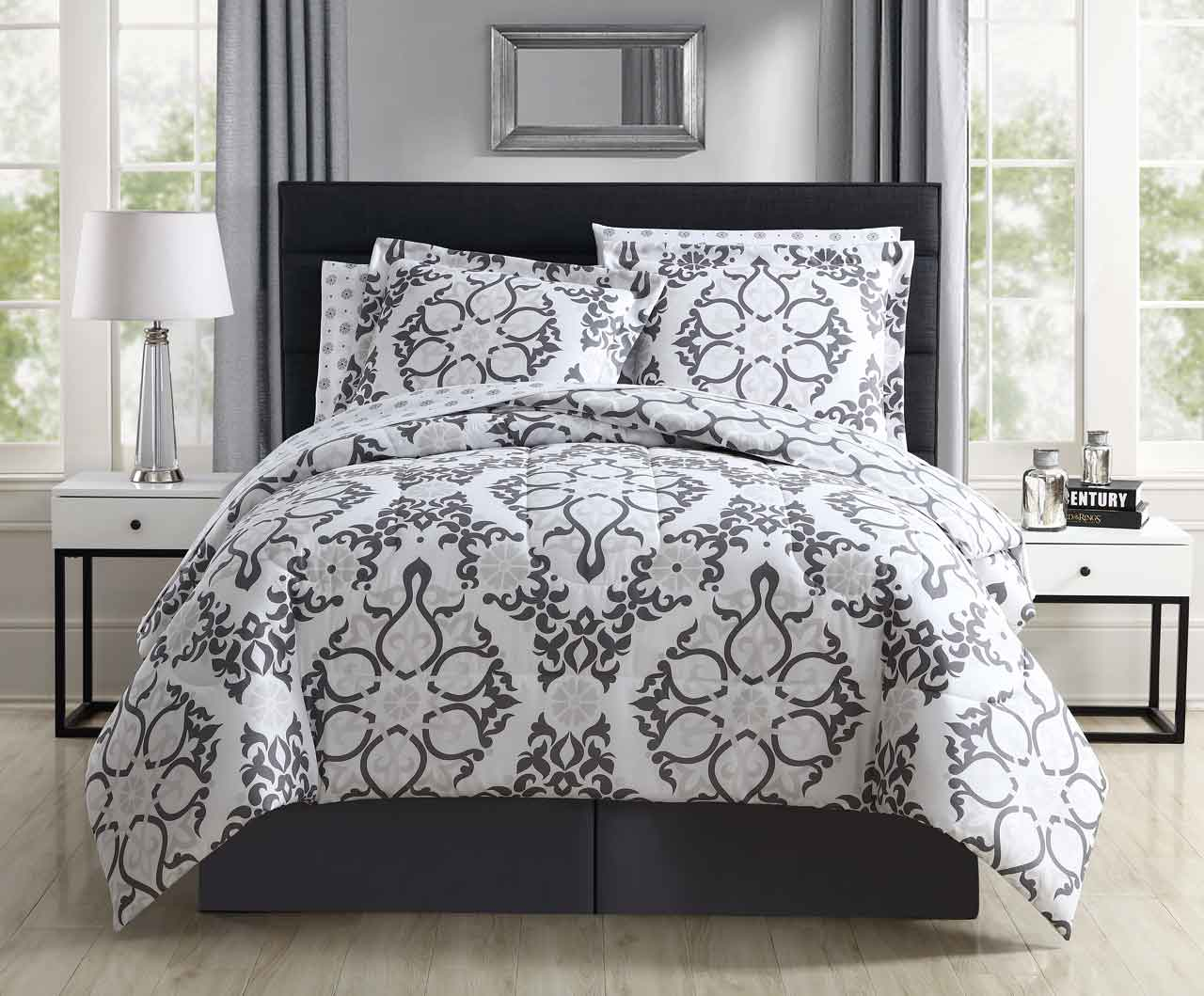 8 Piece Fillmore Taupe Comforter Set with Sheets