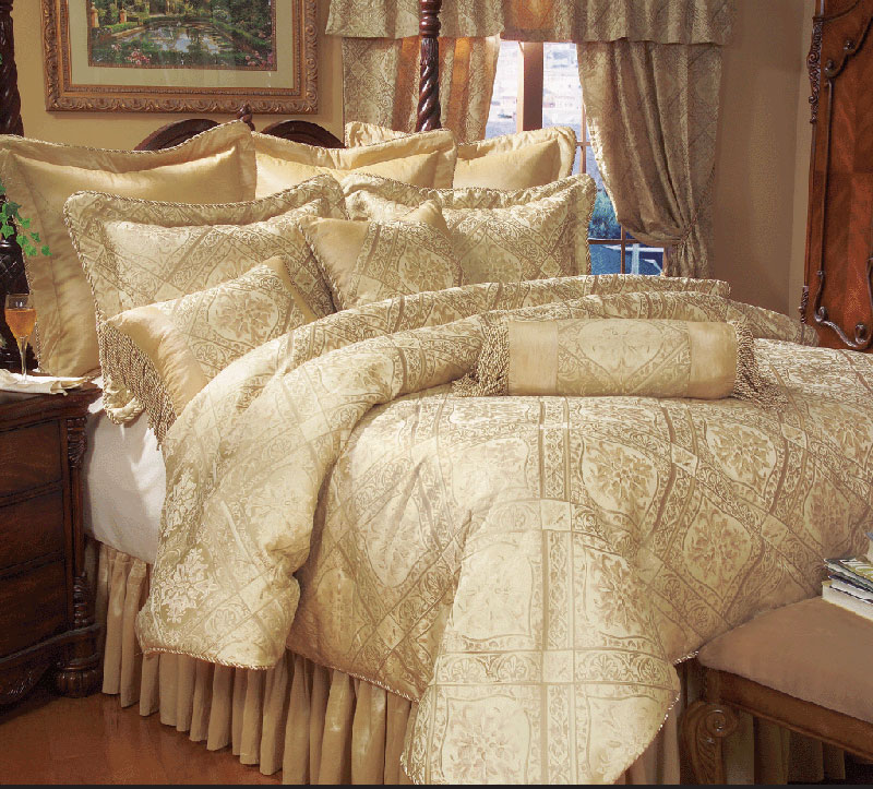 Red And Gold Comforter Sets Comfort, Luxury Cream And Gold Bedding