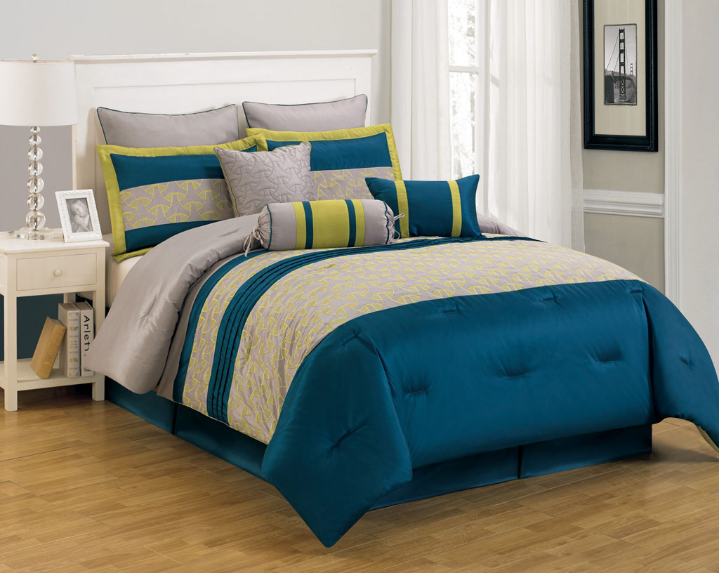 Piece Carter Blue And Yellow Comforter Set - Blue and yellow comforter sets king