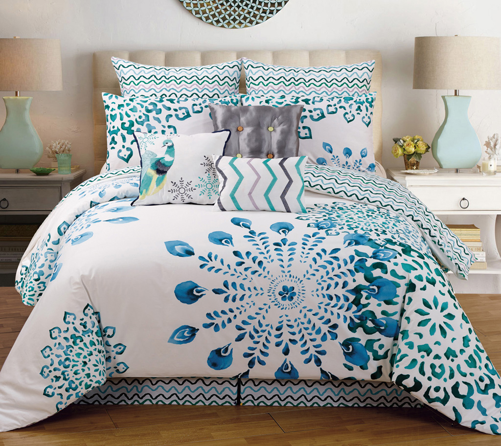 Bedding sets for california king size - 9 Piece King Polona Cotton Comforter Set