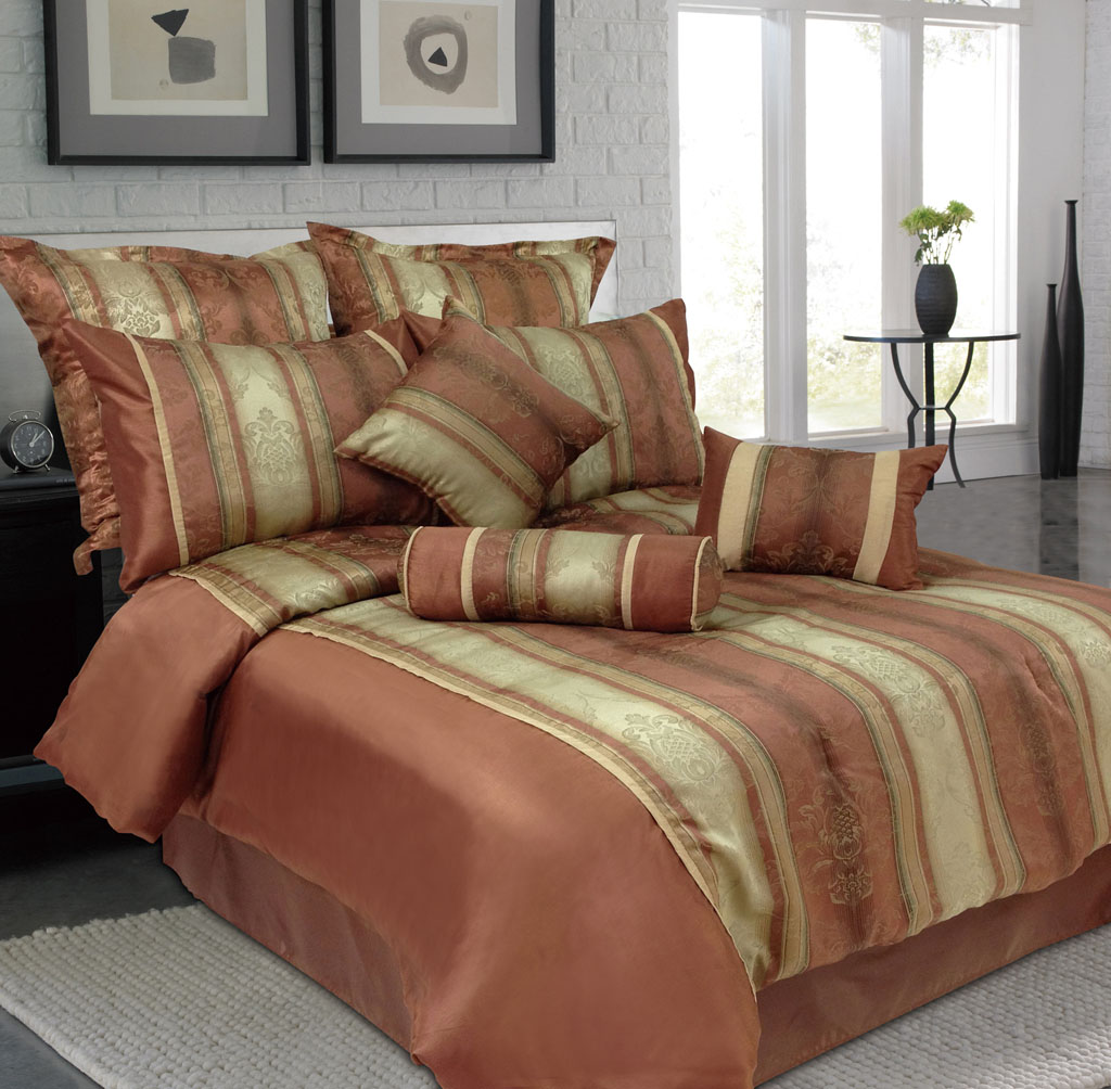 9 piece jane jacquard bedding comforter set