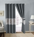 Atwood Slate/Taupe/Gray Embroidered Curtain Set