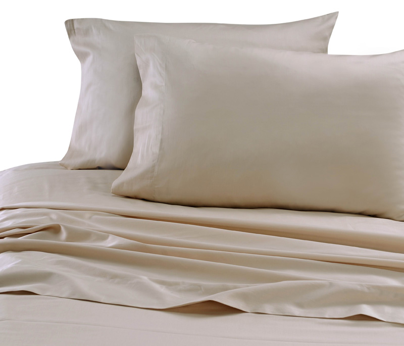 Beige Hotel 600 Thread Count Cotton Sateen Sheet Set Twin