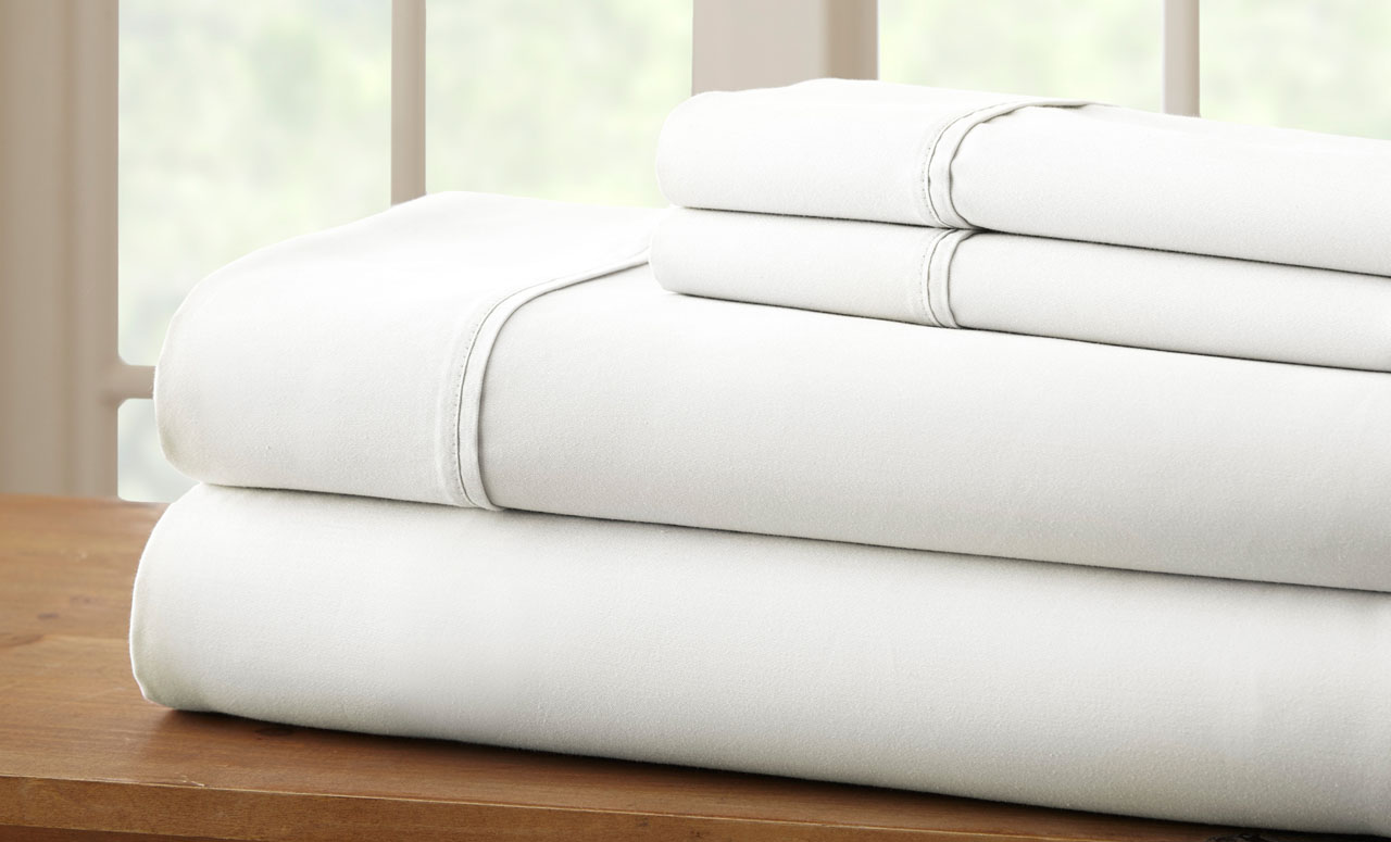 summerville hotel collection white thread count cotton rich sheet set full