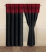 Catherine Black and Red Curtain Set
