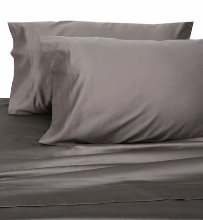 Charcoal Hotel 600 Thread Count Cotton Sateen Pillowcases King
