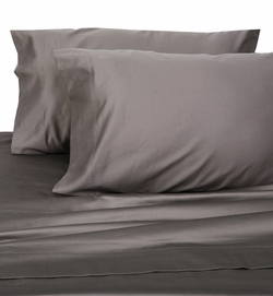 Charcoal Hotel 600 Thread Count Cotton Sateen Sheet Set Twin