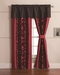 Dawson Black and Red Curtain Set