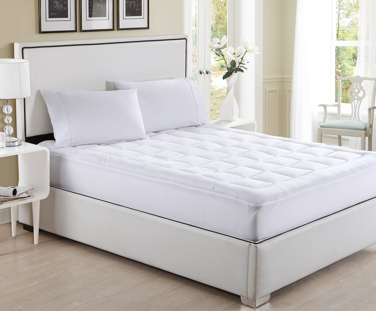 Deluxe Overfilled Ultra Soft Microplush Mattress Pad Queen