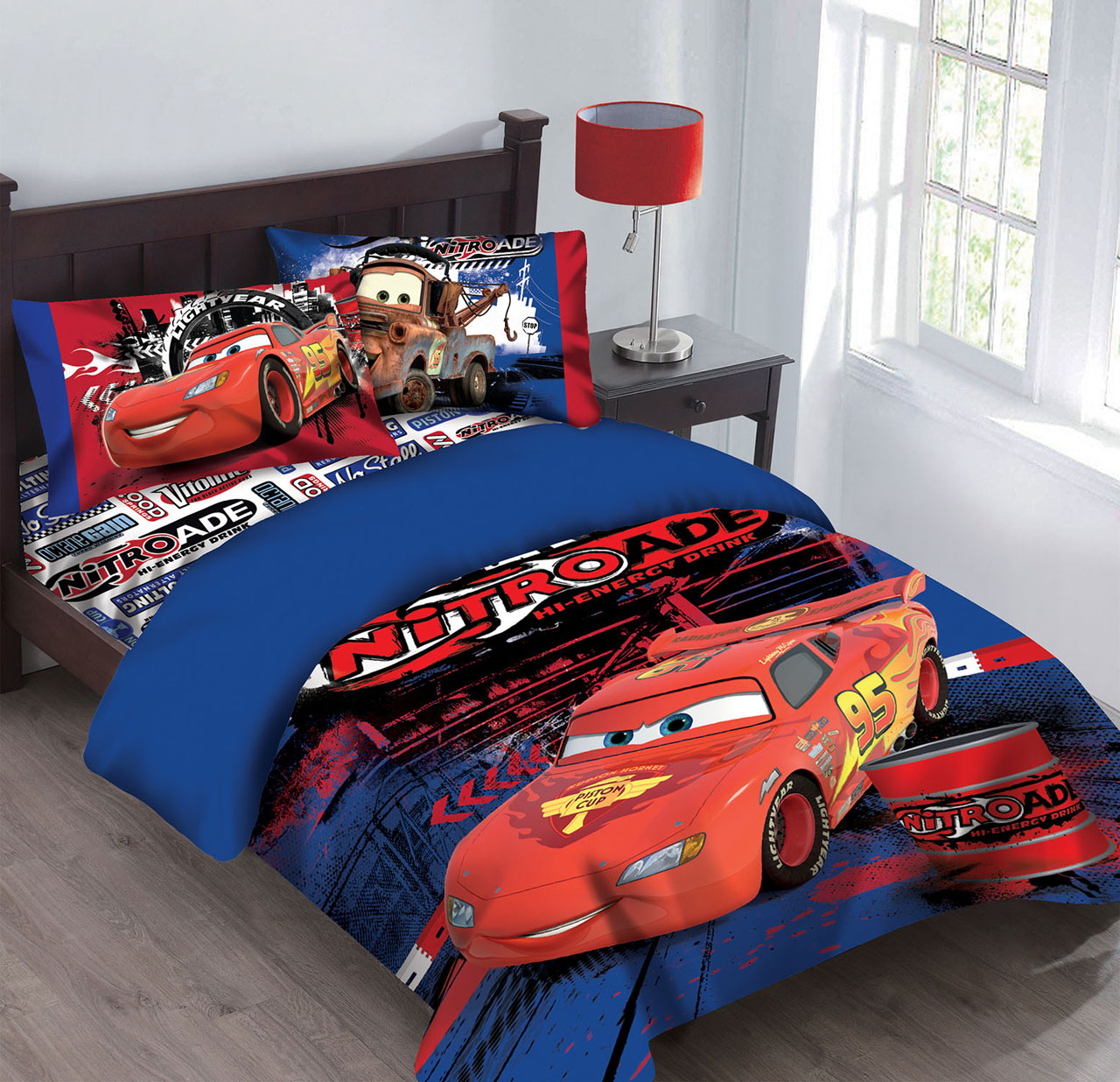 Disney Cars Nitroade Bedding Comforter Set With Fitted Sheet