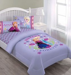 Disney Frozen Nordic Summer Florals Comforter Set with Fitted Sheet
