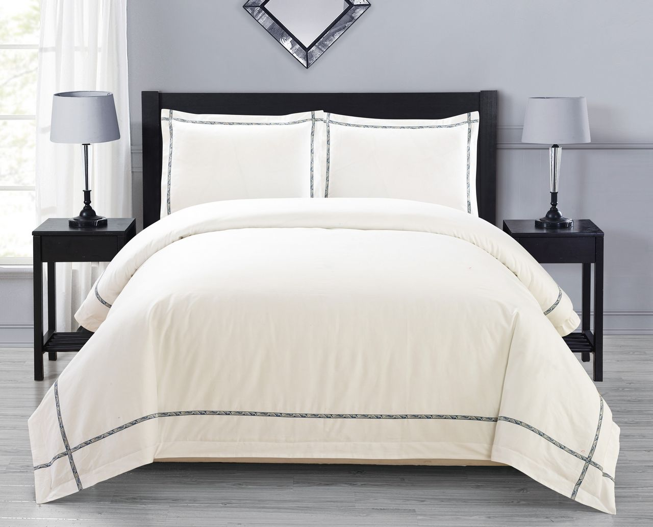 Evan 300 Thread Count Cotton Duvet Cover Set