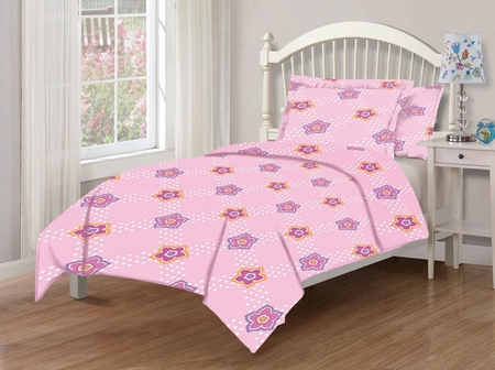 Full Microfiber Kids Tabitha Dot Floral Bedding Comforter Set