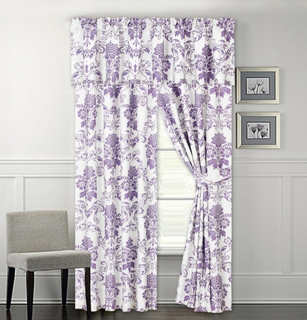 Giverny Floral Print Curtain Set