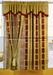 Maroon Jewel Curtain Set w/ Valance/Sheer/Tassels