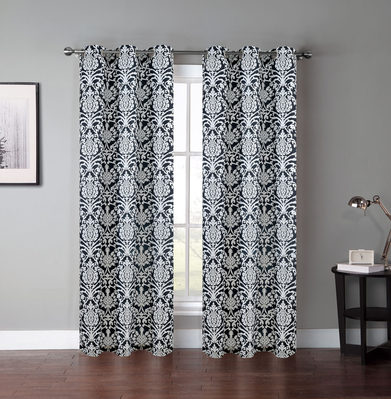 Black and white window curtain - Black And White Window Curtain