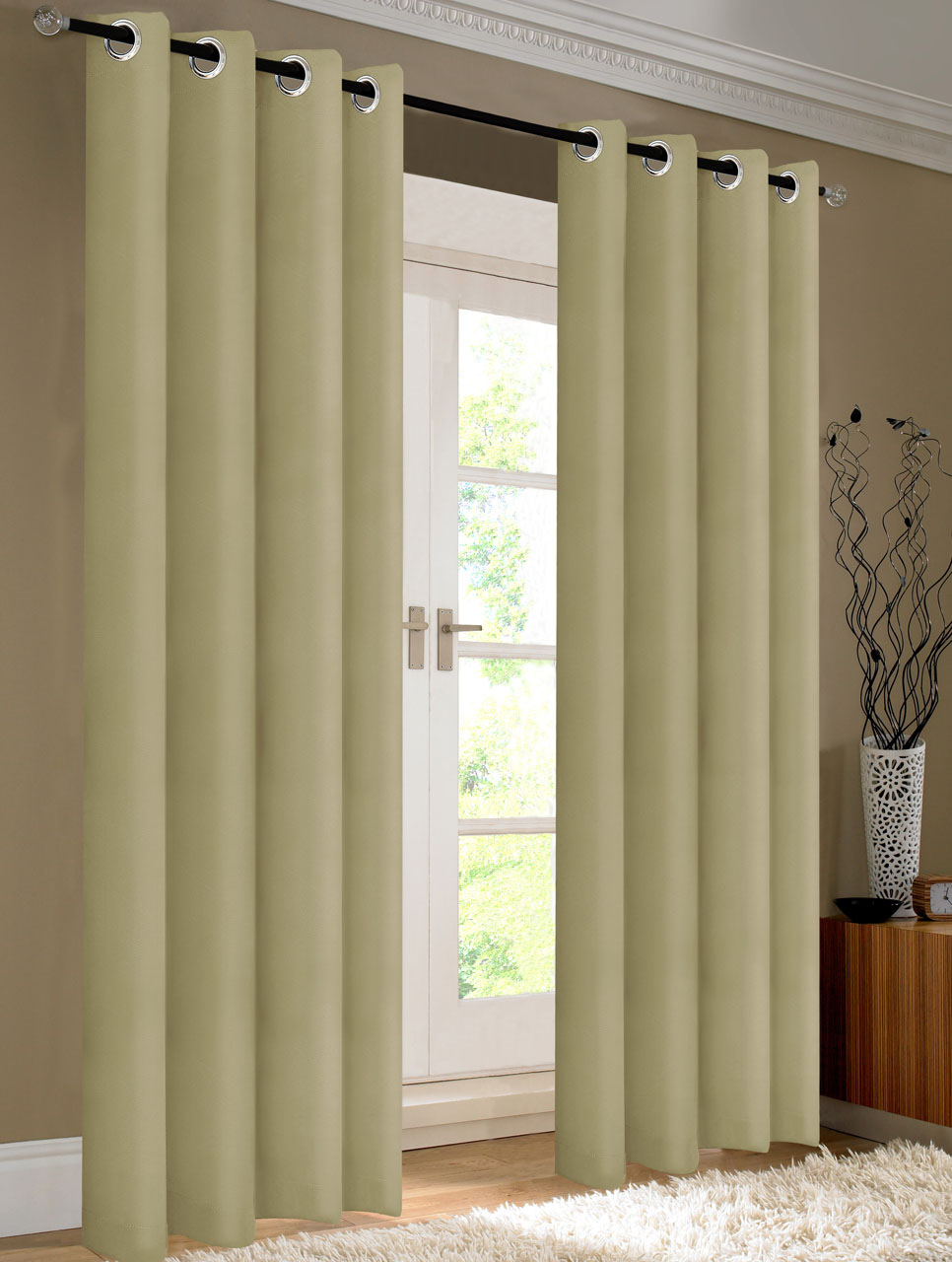 blackout curtain yvon curtains raven ivory tan pin beautyrest valance