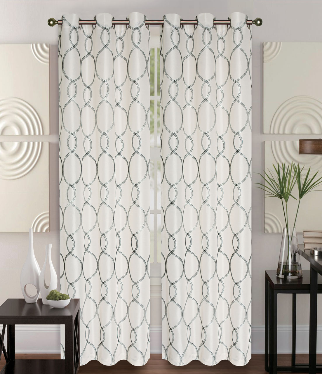 pin ivory bedding curtains luxury panel panels curtain left witcoff collections