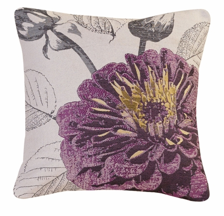 Purple Rose Decorative Square Throw Pillow 18