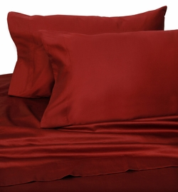 Red Hotel 600 Thread Count Cotton Sateen Sheet Set Twin