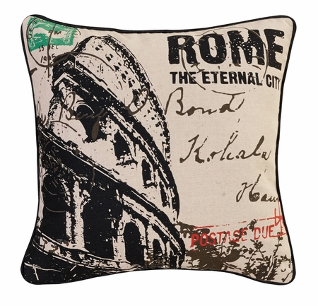 Rome Decorative Square Throw Pillow 18""