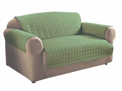 Sage Micro Suede Loveseat Protector
