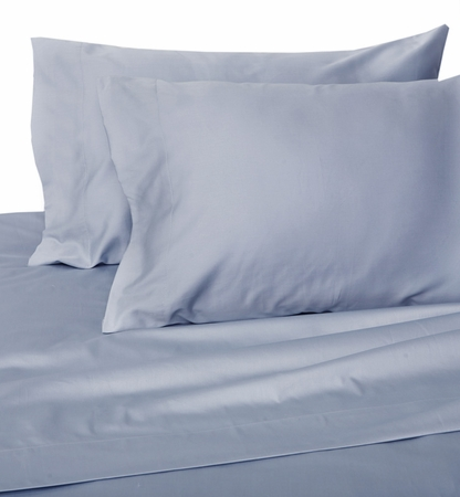 Sky Blue Hotel 600 Thread Count Cotton Sateen Sheet Set Twin