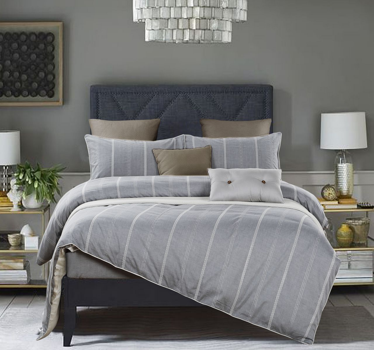 austen marisota cover product duvet grey shop action pleated details border set show