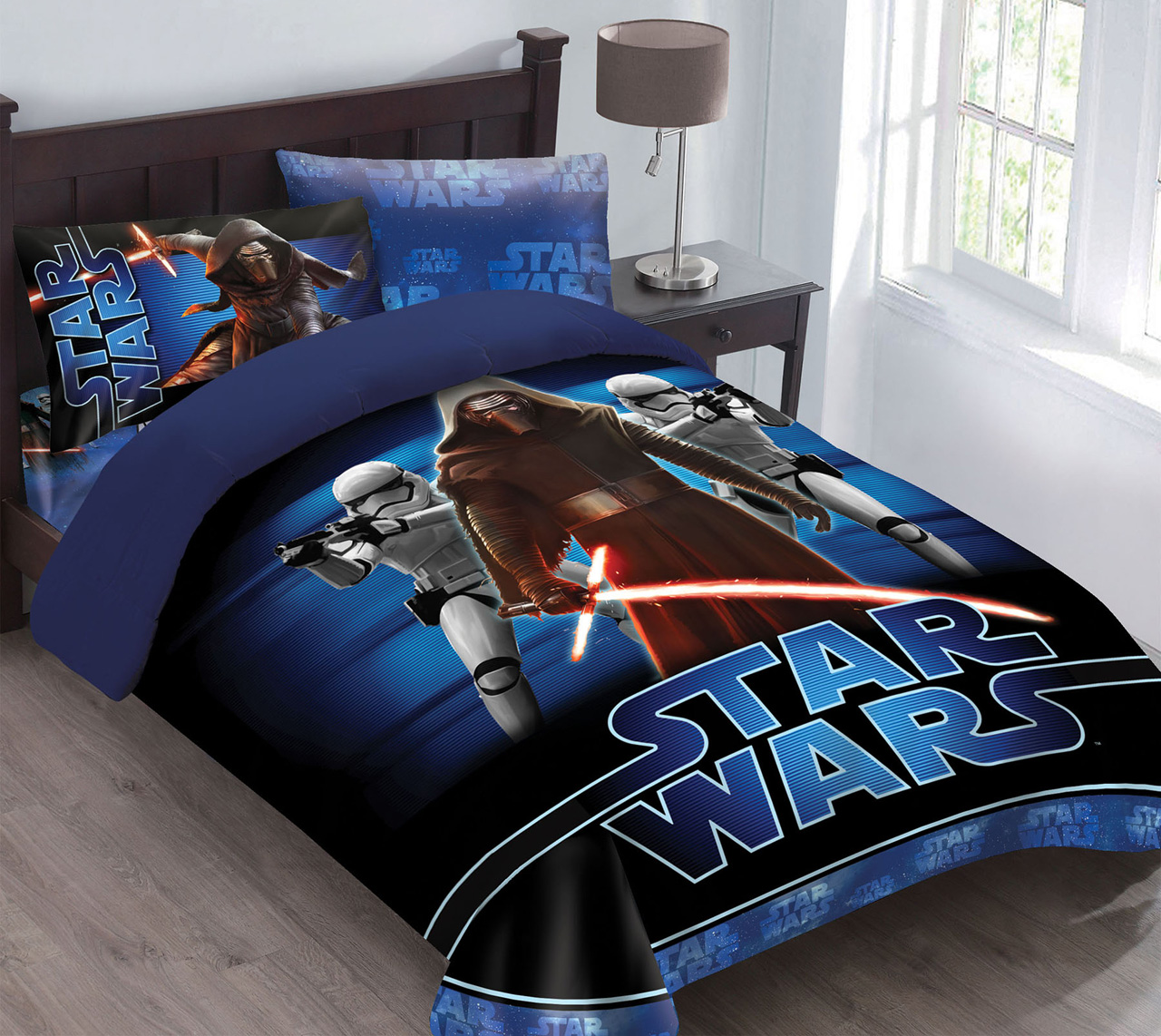 Attractive Kinglinen Star Wars The Force Awakens Comforter Set With Fitted Sheet, Full