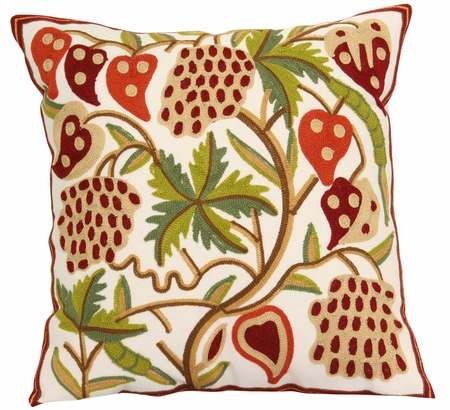 Tropical Green/Red Decorative Throw Pillow 18