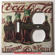 5 Cents Coke Bottles Old Poster Double