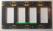 Batman Logo 4 Port Cover plate